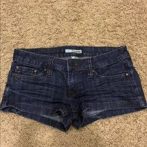 Dark jean shorts